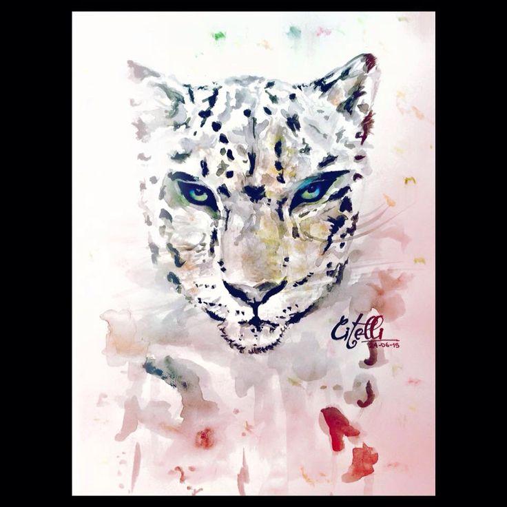 Tiger. Drawing. Watercolors