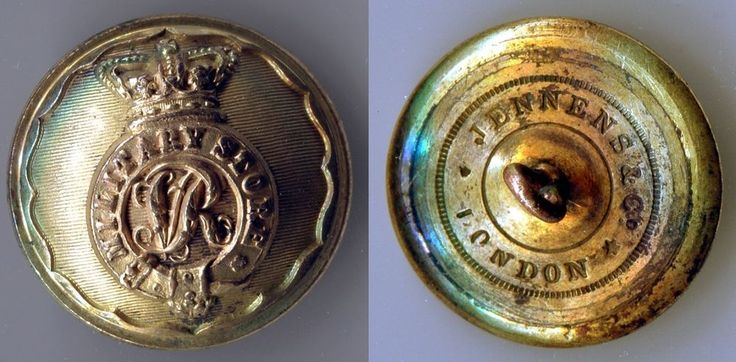 British Army button - MILITARY STORES - Victorian button by Jennens & Co. London