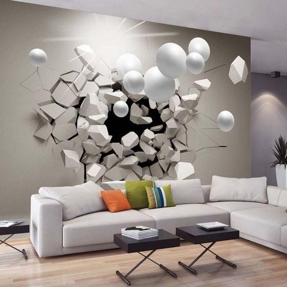 11 best Deco 3D images on Pinterest Wall papers, Murals and Wall