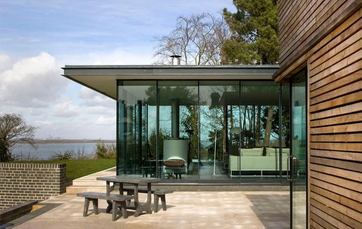 Sea Glass House, The Manser Practice #house #Isle of Wight #steel #glazing #timber #concrete  #view #crisp #modern