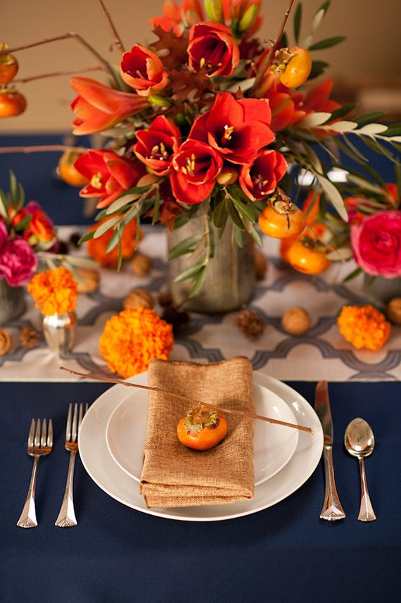 I had so much fun working with Kelly Sullivan of Botanique Flowers on this styled shoot. And we were beyond excited to have it featured on 100 Layer Cake! :D  Colorful, earthy Fall wedding inspiration | Photo by Tara Brown Photography | Read more - http://www.100layercake.com/blog/?p=71754