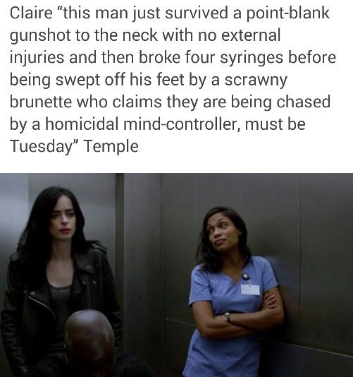 We love you Claire Temple, a very welcome character cross-over. I really appreciated her interactions with both Jessica and Marcus