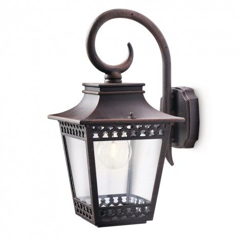 Philips Hedge Outdoor Lantern Wall Light - Rustic from Litecraft