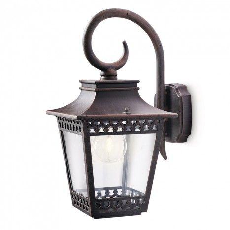 PH1-15401-86-16 DECORATIVE RUSTIC BROWN GARDEN WALL LIGHT