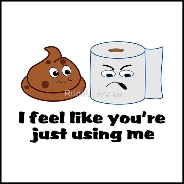 Photo Image Just Using Me funny bathroom cartoon art