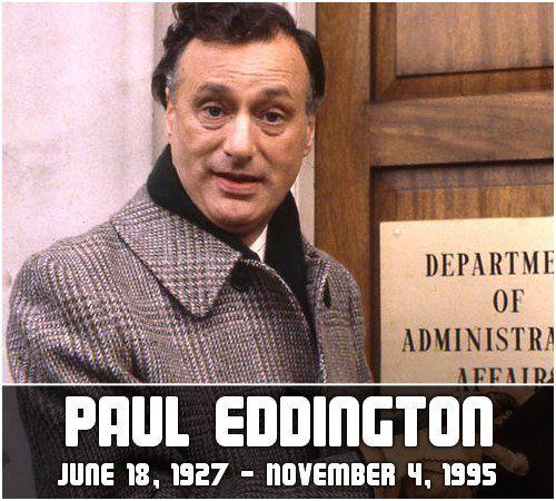 Paul Eddington, Yes Minister, Yes Prime Minister, BBC, British Comedy, James Hacker, Memorial