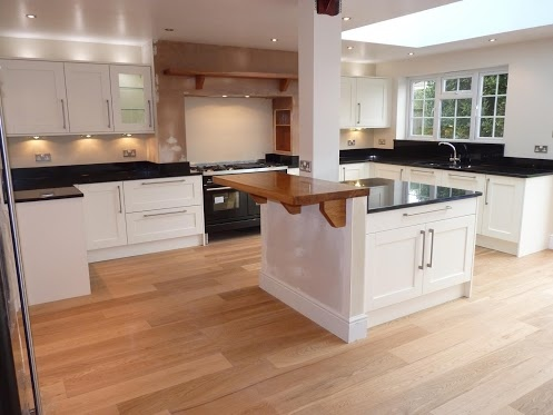 Stunning Indian Black Granite Worktops And White Cupboards In A