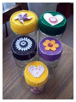 El blog de Celes :): Tutorial: frasco decorado con fieltro