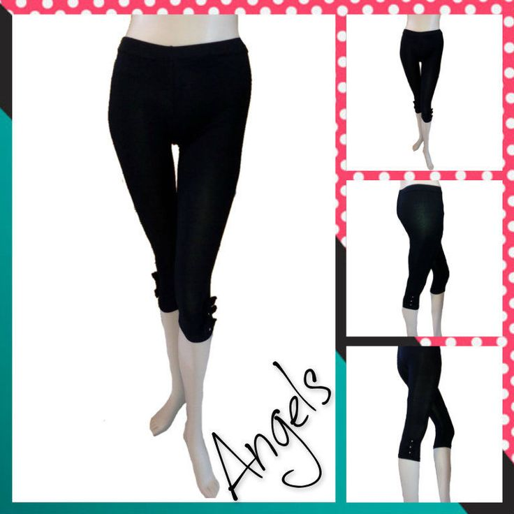 Leggings leggin pantacalza donna capri pinocchietti  fiocchetti strass fuseaux