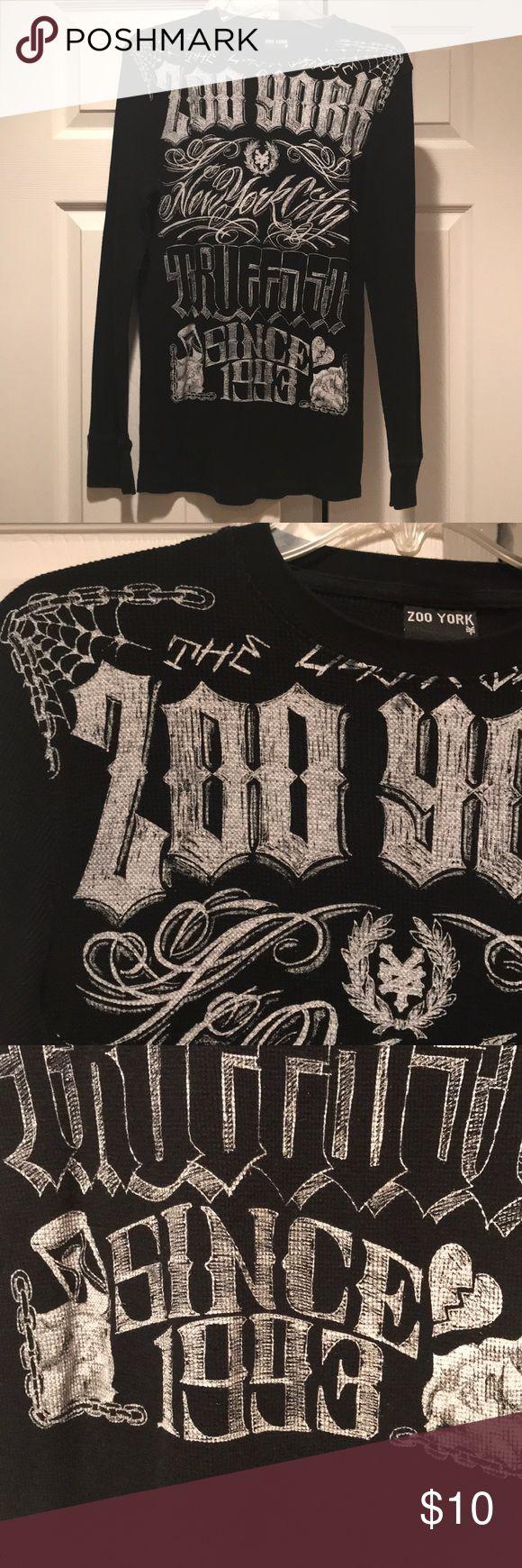 Zoo York long sleeved T-shirt Black Zoo York light long sleeved thermal shirt Zoo York Shirts Tees - Long Sleeve