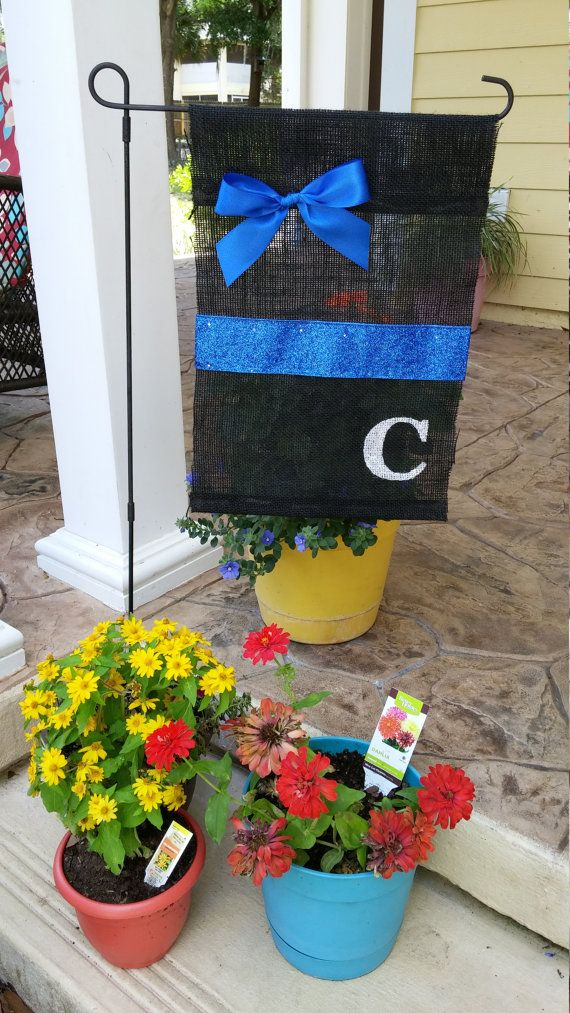 Hey, I found this really awesome Etsy listing at https://www.etsy.com/listing/229699253/thin-blue-line-personalized-initial-yard