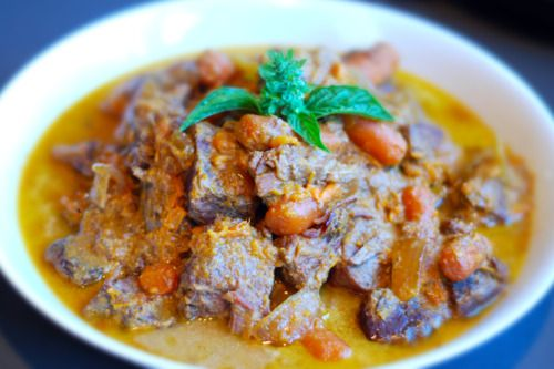 Slow Cooker Thai Yellow Curry With Grass Fed Beef Brisket | Nom Nom Paleo