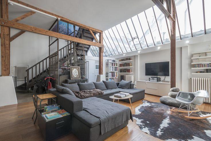 loft dans une ancienne biscuiterie bagneux loft pinterest verri re ancien et paris. Black Bedroom Furniture Sets. Home Design Ideas