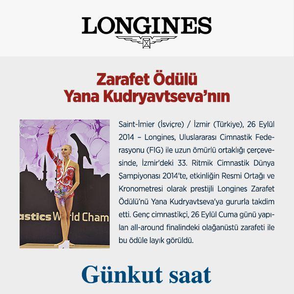Longines Zarafet Ödülü Yana Kudryavtseva'nın...  Blog yazımız için; http://www.gunkutsaat.com/longines-blog Longines saatlerini İncelemek için; http://bit.ly/longines-saat