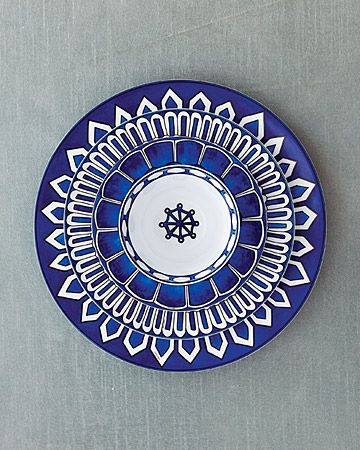Rich Cobalt Blue and White Patterned Plates