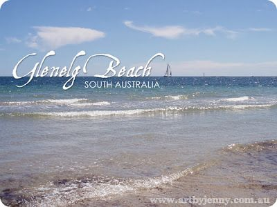 """Glenelg, South Australia. Gazing out to sea and paddling in the water at the southern seaside suburb of Adelaide. More about how to stay cool at """"A Life Less Ordinary"""", www.artbyjennydesign.blogspot.com.au"""