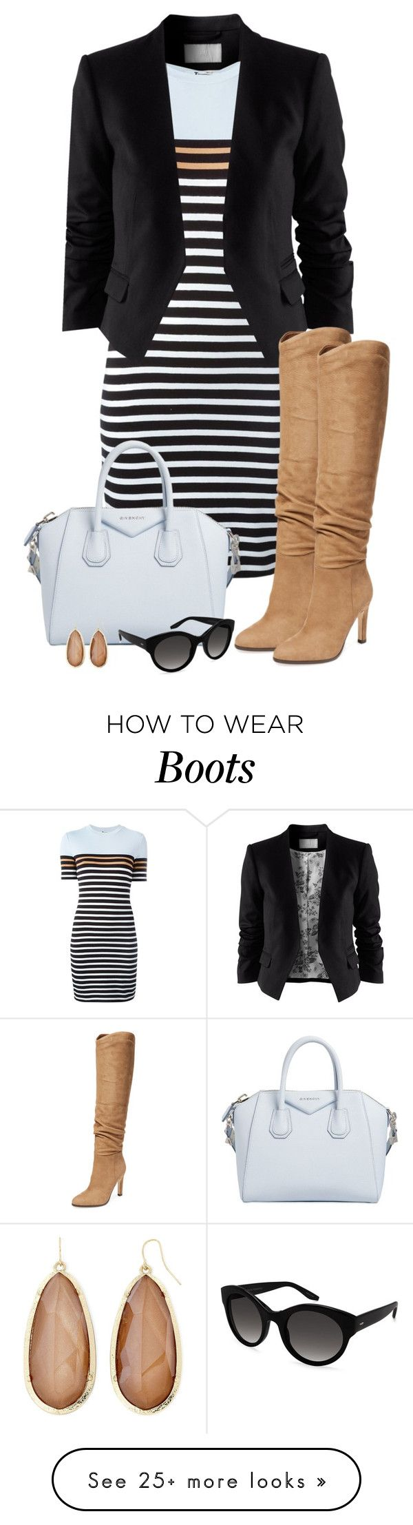 """Knee High Boots"" by kajones722 on Polyvore featuring T By Alexander Wang, H&M, Givenchy, Sigerson Morrison, Mixit, Barton Perreira, women's clothing, women, female and woman"