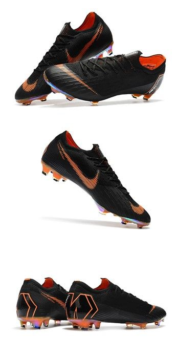 finest selection 1b9e4 c4e30 Nike World Cup 2018 Mercurial Vapor XII FG Boots - Black Orange   Hotsale Nike  Soccer Cleats --hotsalemercurial.com   Pinterest   Football shoes, Football  ...
