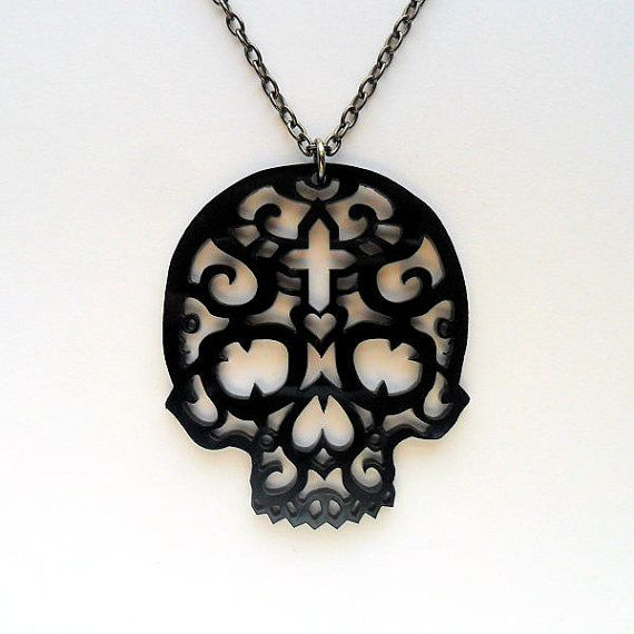 Filigree Skull Necklace by FeastofFlesh on Etsy, £19.99