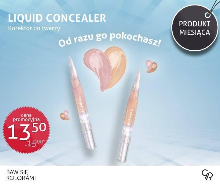 Liquid Concealer Golden Rose majowym produktem miesiąca!