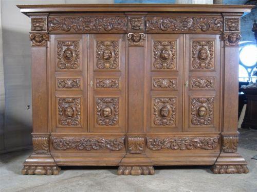 Monumental massive german oak carved bookcase #11bl042a - 9 Best FETY's Selection Of Antique German Furniture Images On