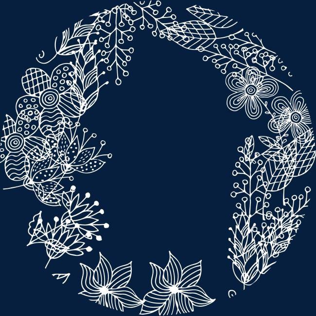 الأبيض نبات إكليل Abstract Artwork White Plants Abstract
