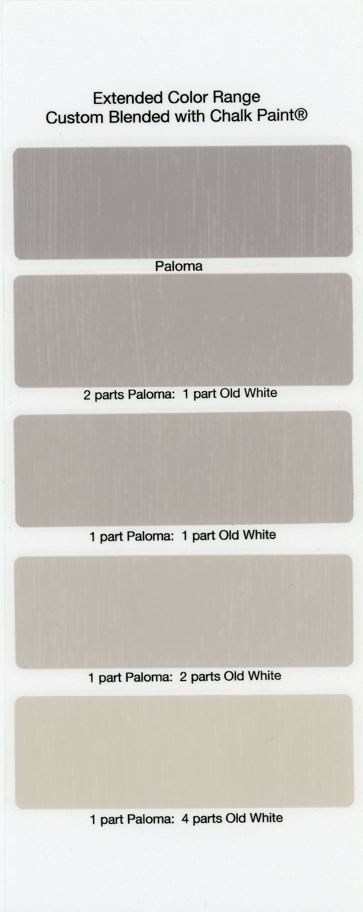 how to change the color of chalk paint