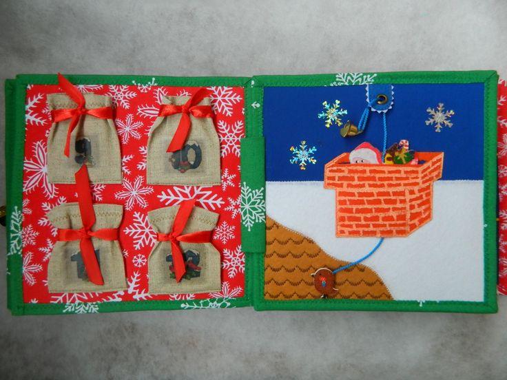 Quiet book / Cristmas book / Cristmas gift / Santa / Busy book / Bag for candy