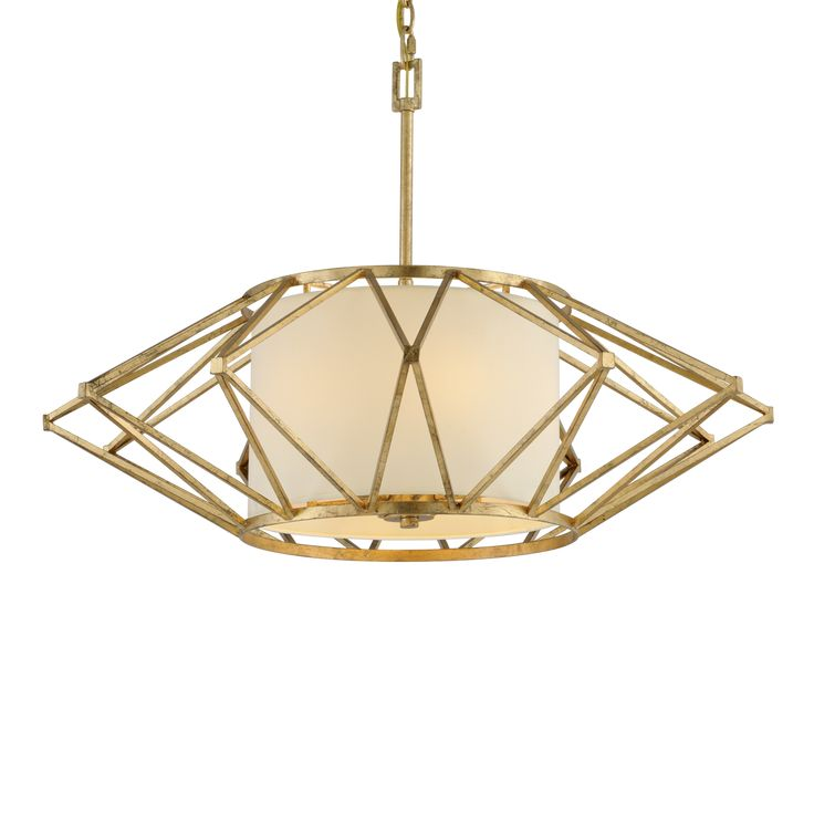 Calliope Pendant features a Linen hardback shade with a Rustic Gold Leaf finish. Available in small, medium, large, and x-large sizes. 60 watt, 120 volt B10 type candelabra base incandescent bulbs are required, but not included. UL listed. Small: 17.75 inch width x 9.5 inch height x 45 inch maximum length. Medium: 26 inch width x 15 inch height x 50 inch maximum length. Large: 34 inch width x 15 inch height x 50 inch maximum length. X-Large: 42 inch width x 15.5 inch height x 50 inch…