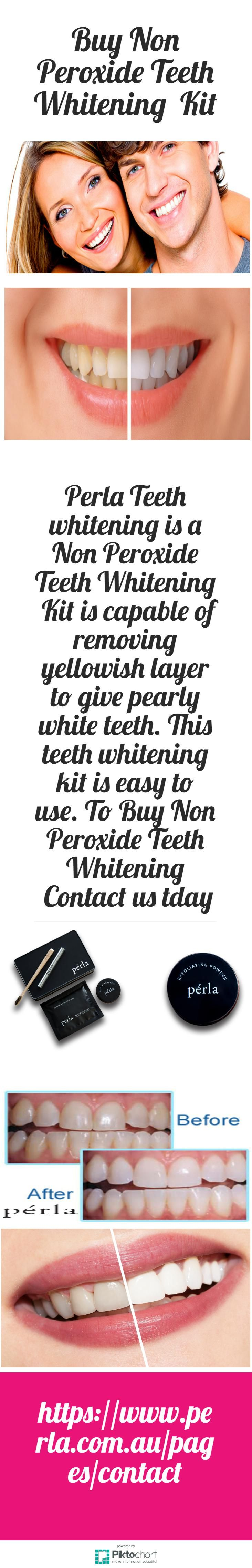 Perla Teeth whitening is a Non Peroxide Teeth Whitening  Kit is capable of removing yellowish layer to give pearly white teeth. This teeth whitening kit is easy to use. To Buy Non Peroxide Teeth Whitening  Kit, Visit link:  https://www.perla.com.au/pages/contact