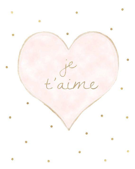 Je t'aime Print My Love I Love You Wall Decor by SweetestPie