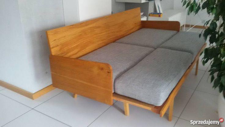 Mała 183,rozkładana sofa retro, vintage, kanapa, wersalka,  Poznań