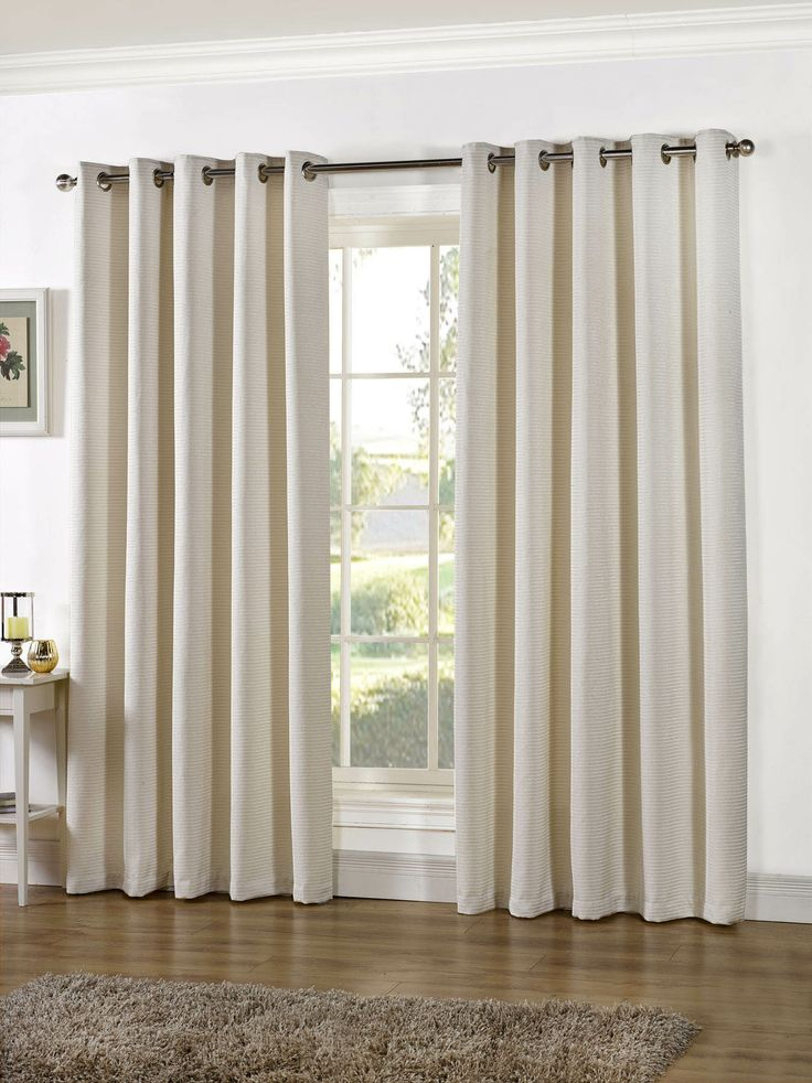 Urban Living Stella Ivory Chenille Readymade Eyelet Curtains Soft Furnishings Emporium Home Interiors
