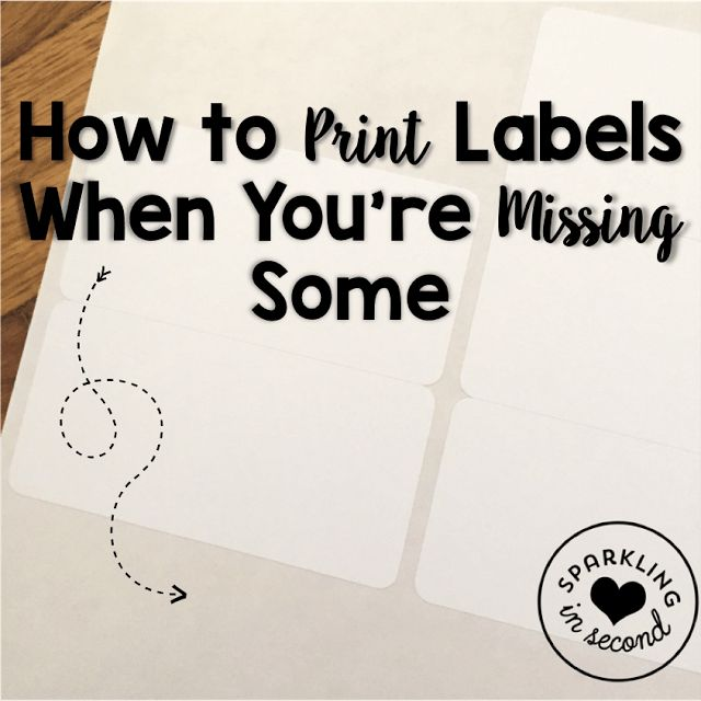Ever wonder how to print labels when you only have a few left? Let's use EVERY label, don't waste. Here's how!