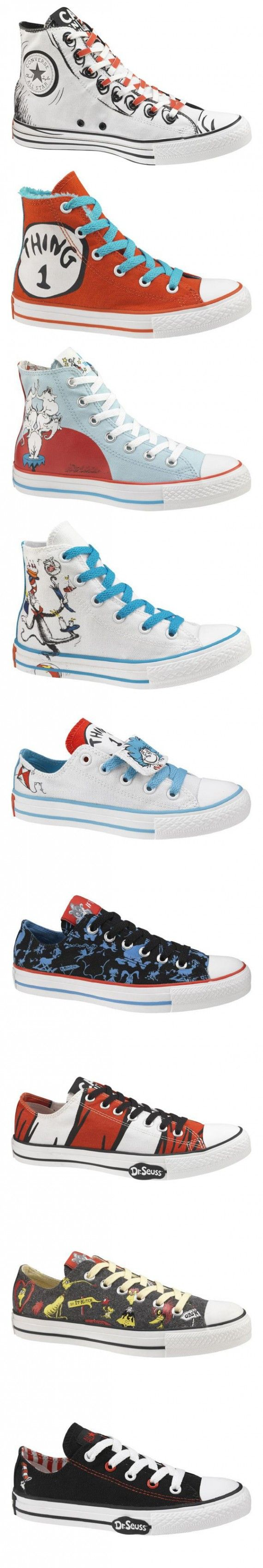 Converse has teamed up with a huge variety of collaborators and here's one of the most whimsical to ever hit the shoe game.  Theodore Seuss Geisel will forever be remembered by countless children as the author of the first book … Continue reading →