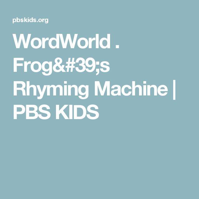 frogs rhyming machine