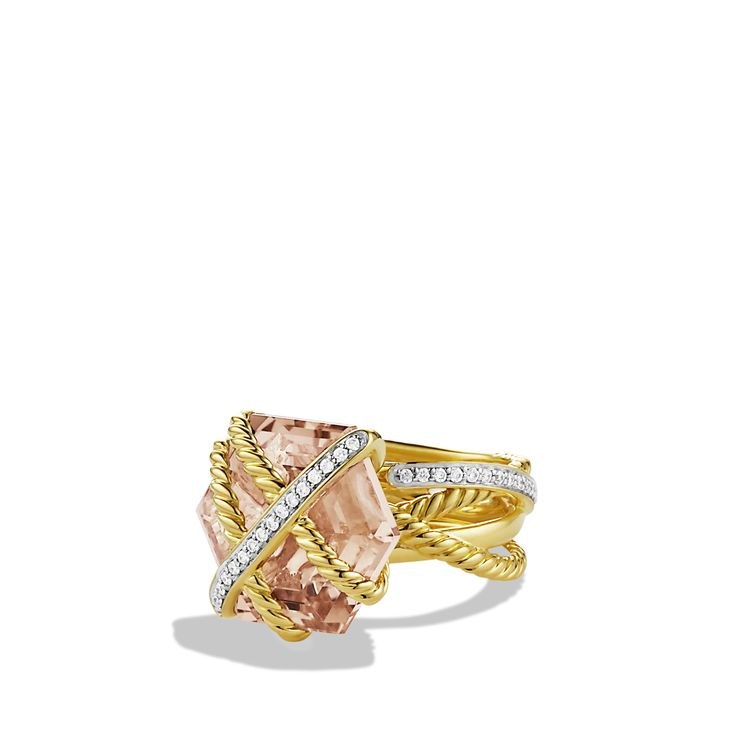 Cable Wrap Ring with Morganite-david yurman- love!!!
