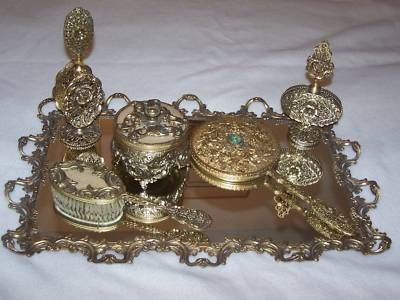 Find This Pin And More On Antique Vanity Dresser Sets