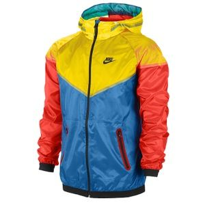 Nike Hype Windrunner Jacket. Red, Yellow, and blue....perfect mix of colors.