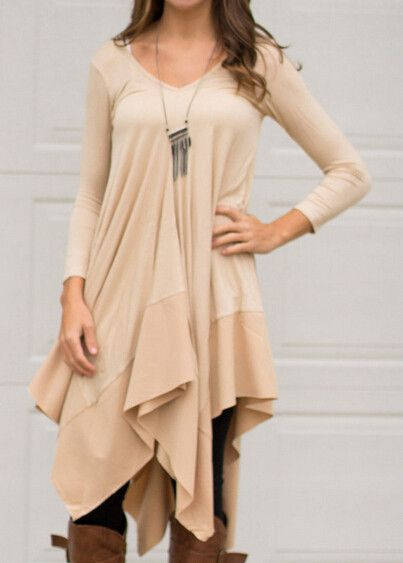Long Shirt Women High Low Shirt Handkerchief Blouse Loose Oversized Shirts Plus Size Women Clothing Tunic European Style Fashion