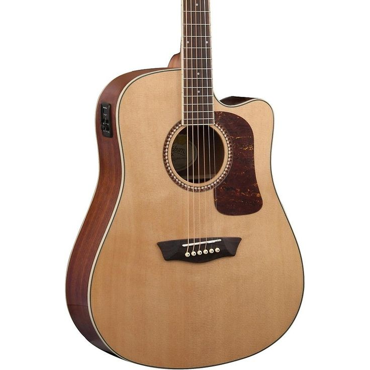 Washburn Heritage Series HD12SCE Dreadnought Acoustic-Electric Guitar Natural