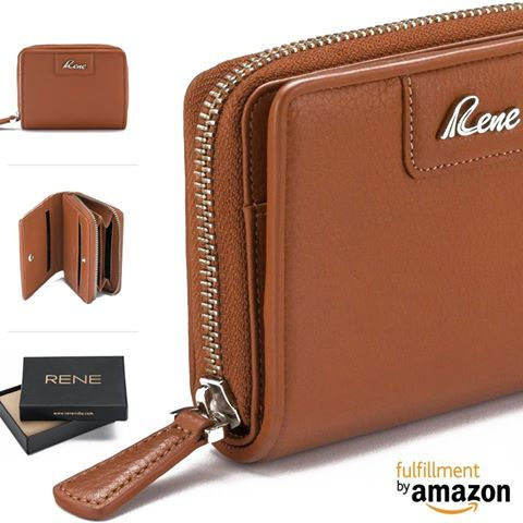 Keep your cash and cards in order with this Tan coloured wallet for women by RENE. Crafted from100% Genuine Leather, this wallet will serve you for years to come. Uniquely designed & engineeered by a team of professionals the product is made out from quality genuine leather to make it durable as well as functional.  #rene #reneindia #reneimpex #renestylereborn #genuineleather #leatherwomenwallet #womenwallet