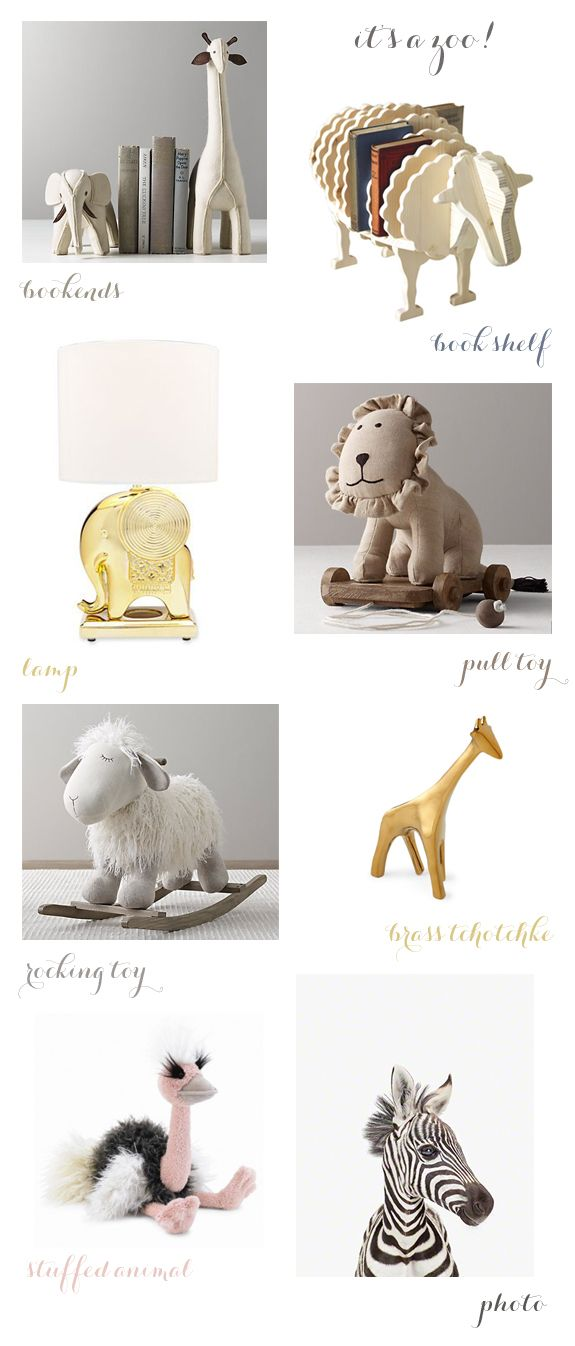 animal themed nursery decor