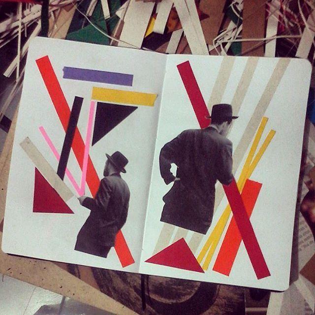 #cervantes #cadernos #notebook #sketchbook #colagens #collagen #collageart #papercollage #papel #cola #adsigna #arte #art #bigoje #cor