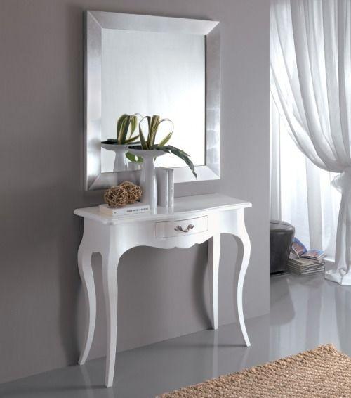 Specchio su consolle bianca | ideas para decorar tu hogar nel 2019 ...