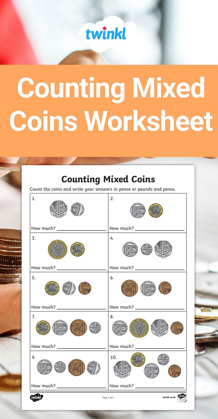 Counting Mixed Coins Worksheets Money Math Activities Money Math Money Worksheets [ 1410 x 735 Pixel ]