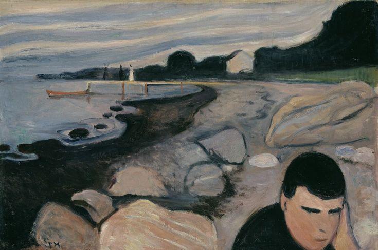 """'Menlancolía' (1892), óleo de Edvard Munch. MUNCH MUSEUM. Fotos: Edvard Munch exposición """"Arquetipos"""": Munch, medio siglo de trabajos   Babelia   EL PAÍS"""