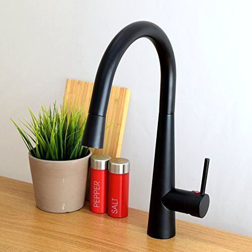 ENKI Ultra Modern Pull Out Kitchen Sink Mixer Tap Faucet High Quality Black  SOFIA, Http