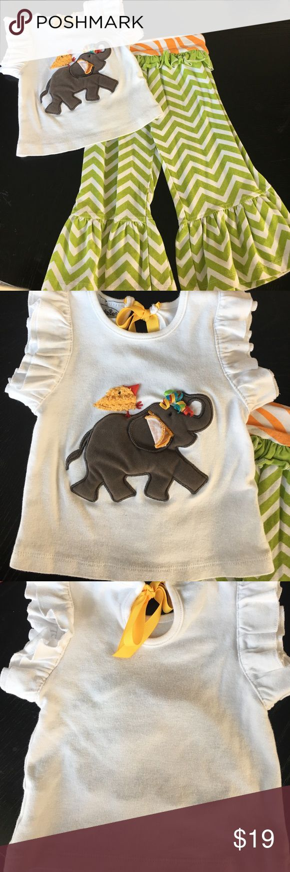 Beautiful Mud Pie Chevron Outfit Gorgeous Mud Pie chevron outfit. It is in excellent condition. Mud Pie Matching Sets
