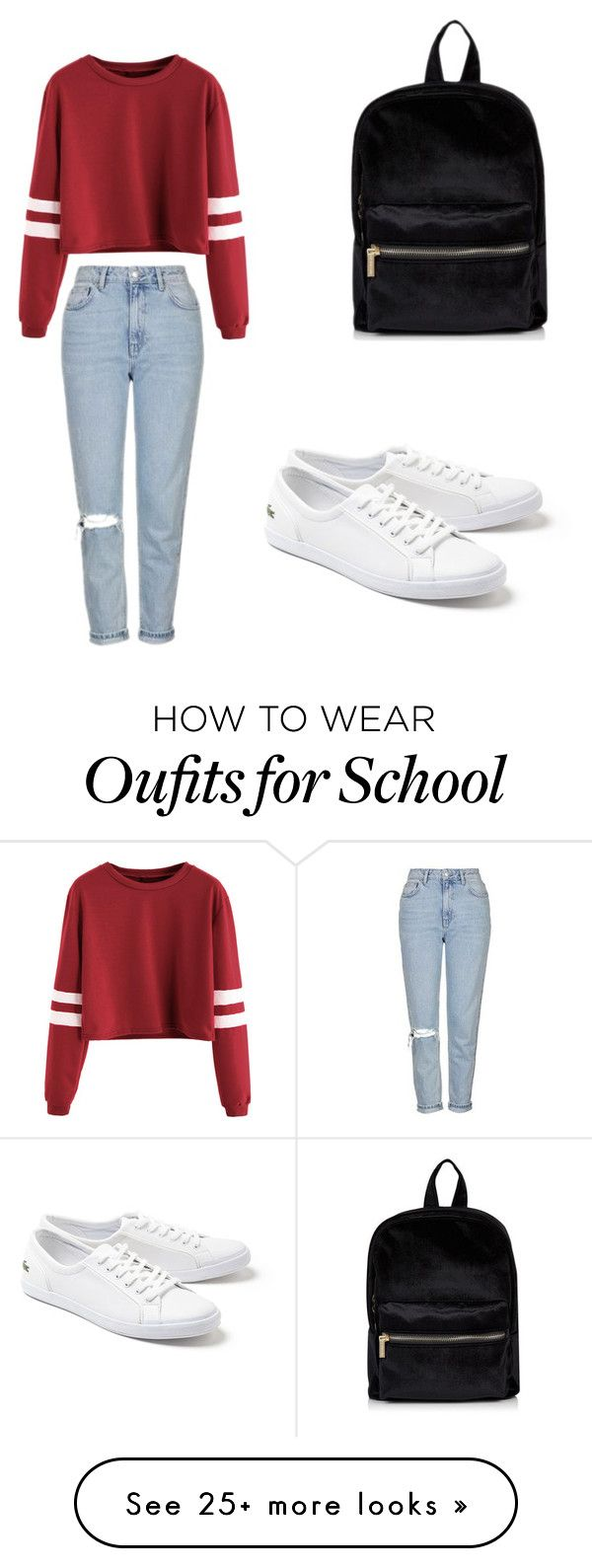 """""""School"""" by scout92703 on Polyvore featuring Topshop and Lacoste"""